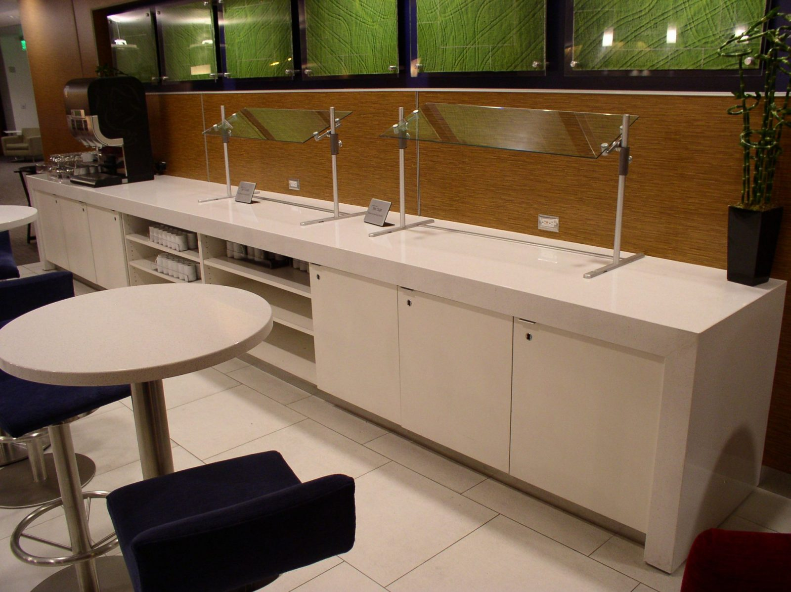 White Commercial Countertop