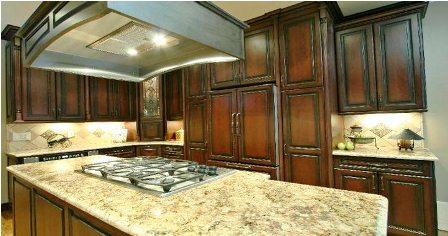 Brown Marble Kitchen. Granite Countertops ...