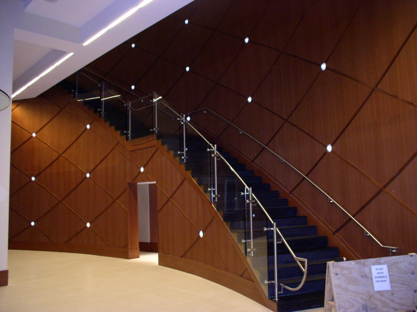 Commercial Natural Stone Staircase