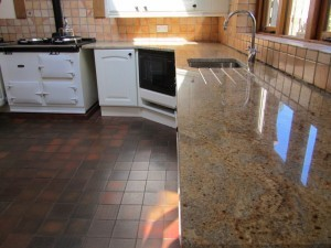 Gold, Yellow and Cream Granite Countertops Kitchen and Design in North GA and Atlanta