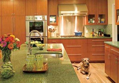 Icestone Granite Countertops Kitchen Design in Atlanta