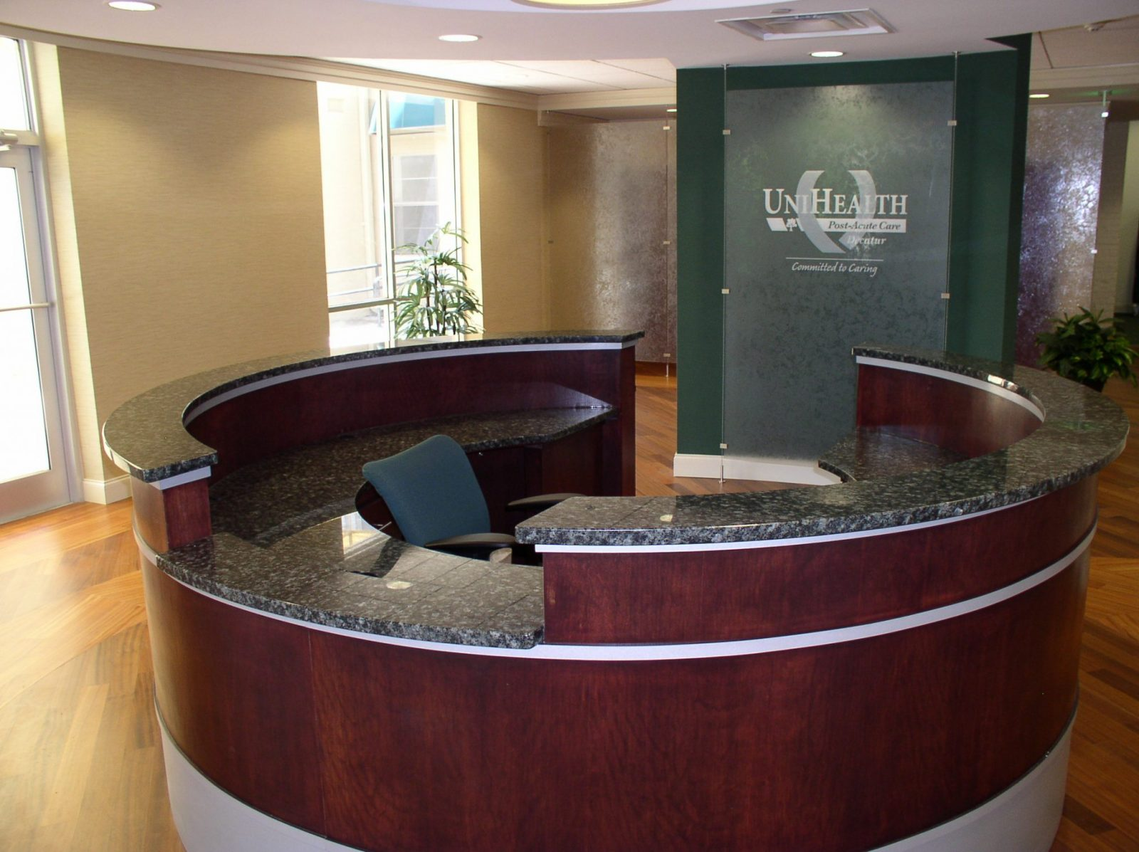 Welcome Lobby Center Granite Countertop