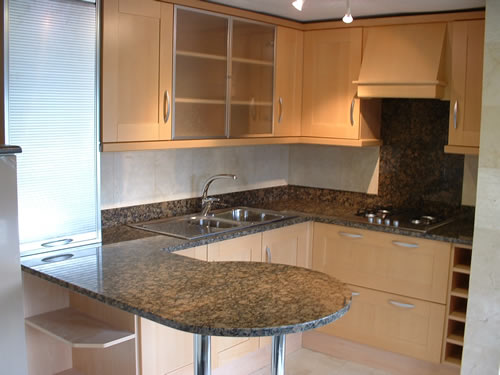 Brown/Suede Granite Countertops Kitchen Design in North GA and Atlanta