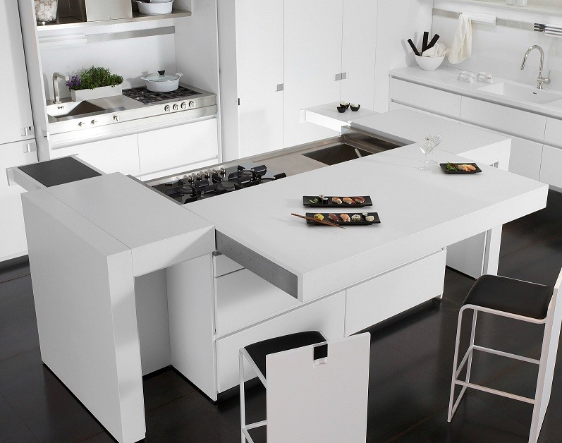 Black Corian Kitchen Countertops