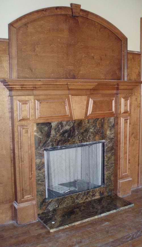 Fireplace surrounds natural and engineered stone for Engineered fireplace