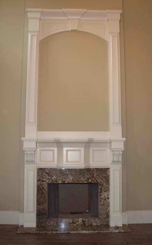Jonquil Granite Fireplace