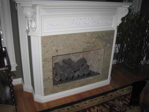 Cashmere Gold Fireplace