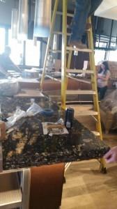 Countertop Installation at the Kona Grill