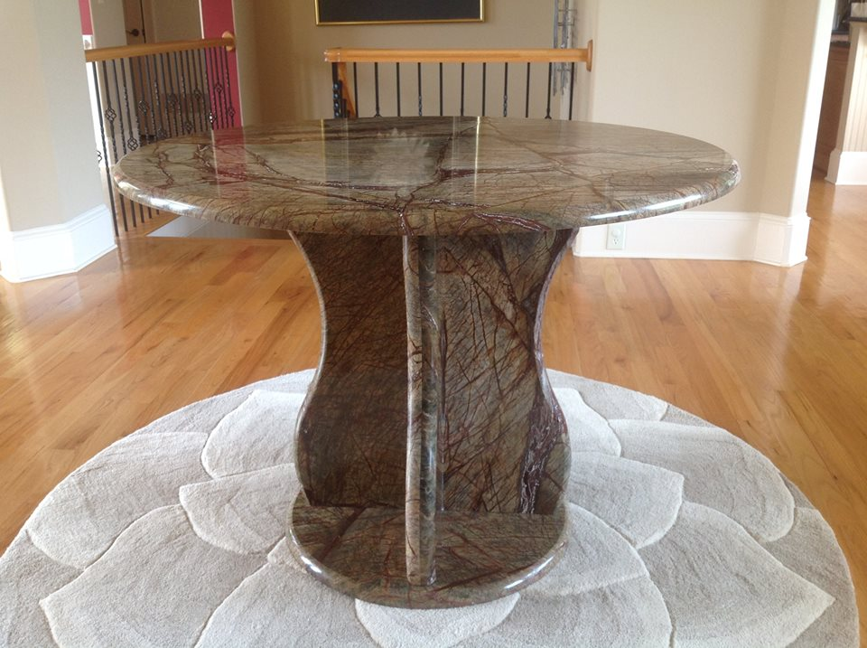 rainforest brown marble table