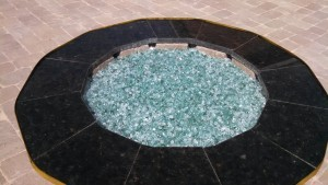 Black Granite Bricks Fire Pit