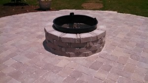 Granite Bricks Fire Pit in Atlanta Georgia