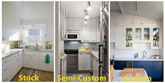 Choosing Between Stock, Special Order, Semi-Custom and Custom Kitchen Cabinets