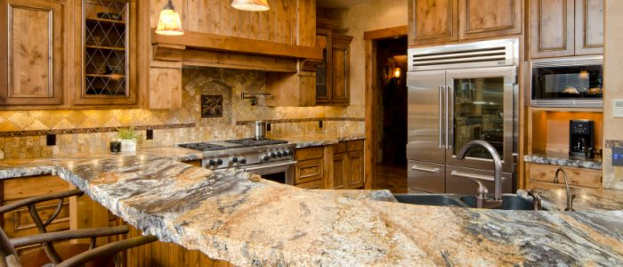 Beautiful Kitchen with Stone Countertops