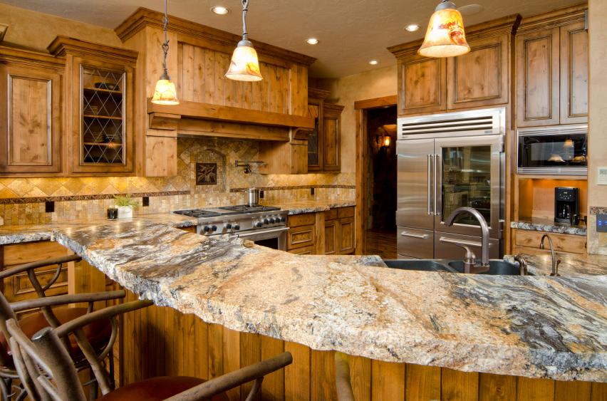 Beautiful Kitchen with Stone Countertops