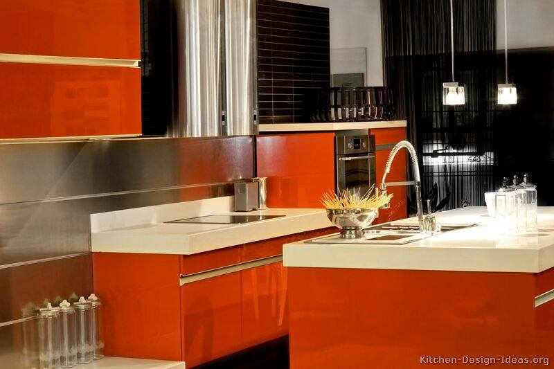 Red Kitchens - Trends