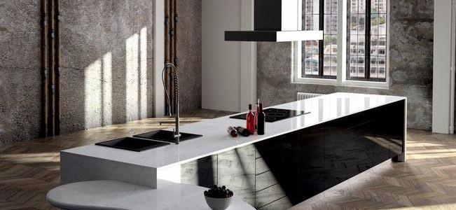modern industrial-style kitchen