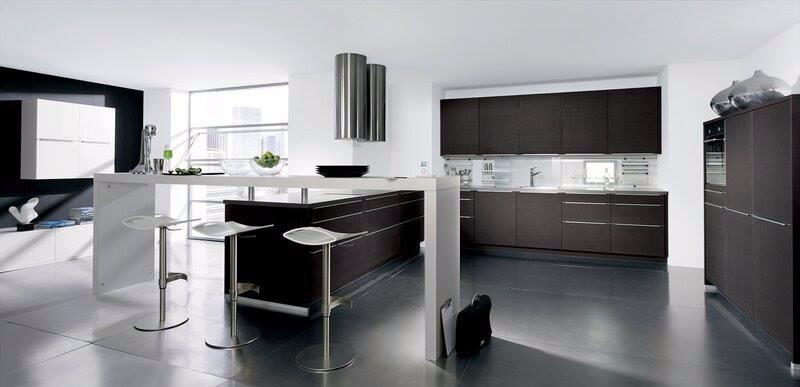 Modern Dark Wood Cabinets