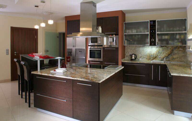 Dark Wood Kitchens