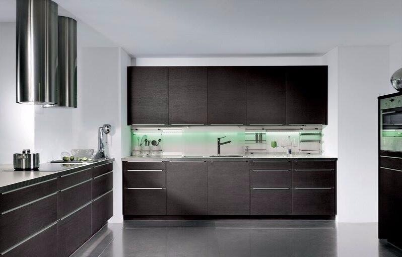 Modern Dark Wood Kitchens