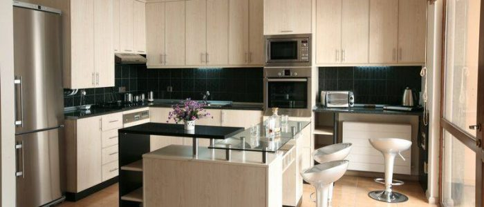 Modern Whitewashed Cabinets