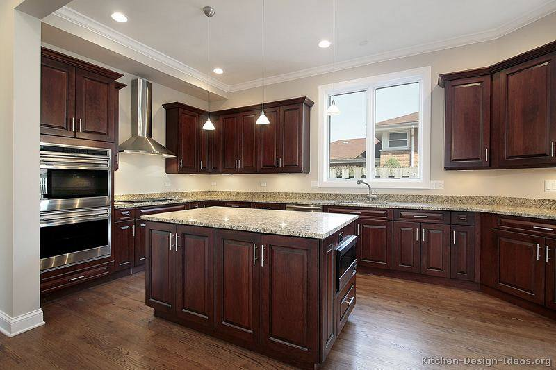 Elegant Dark Wood Kitchens