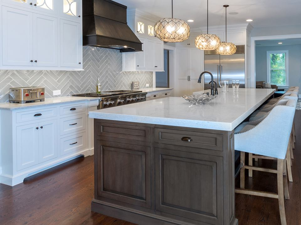Two-Toned Kitchen With Island