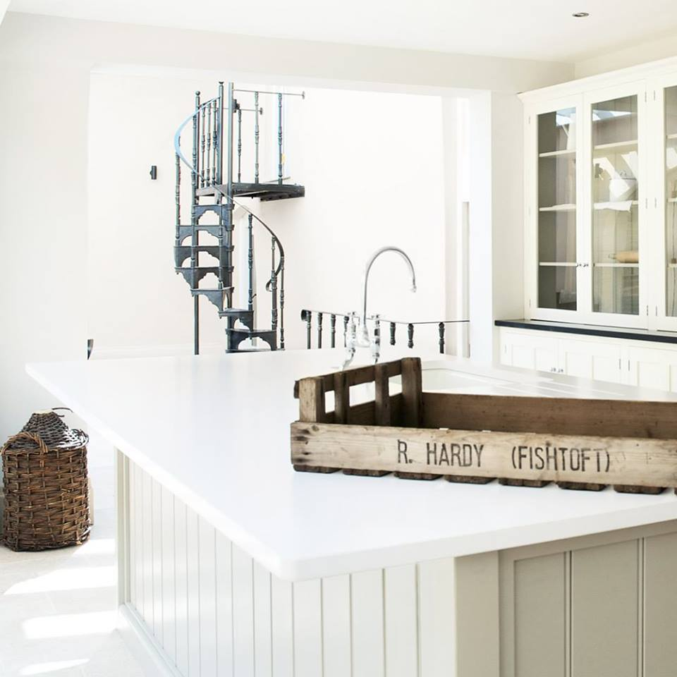 Silestone Iconic White Countertops for a French-Inspired deVOL Kitchen