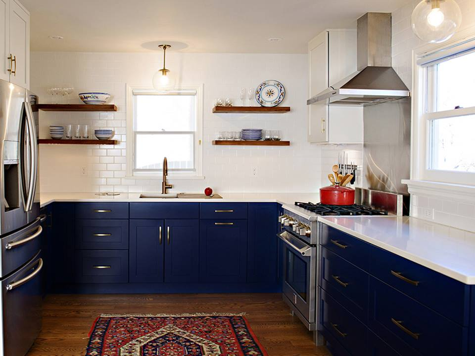 Blue Kitchen Trend in Atlanta