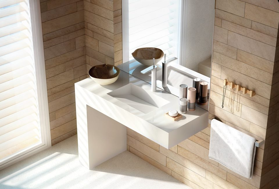 High Quality Silestone Classic White Elegantly Flaunts its Beauty and Simplicity
