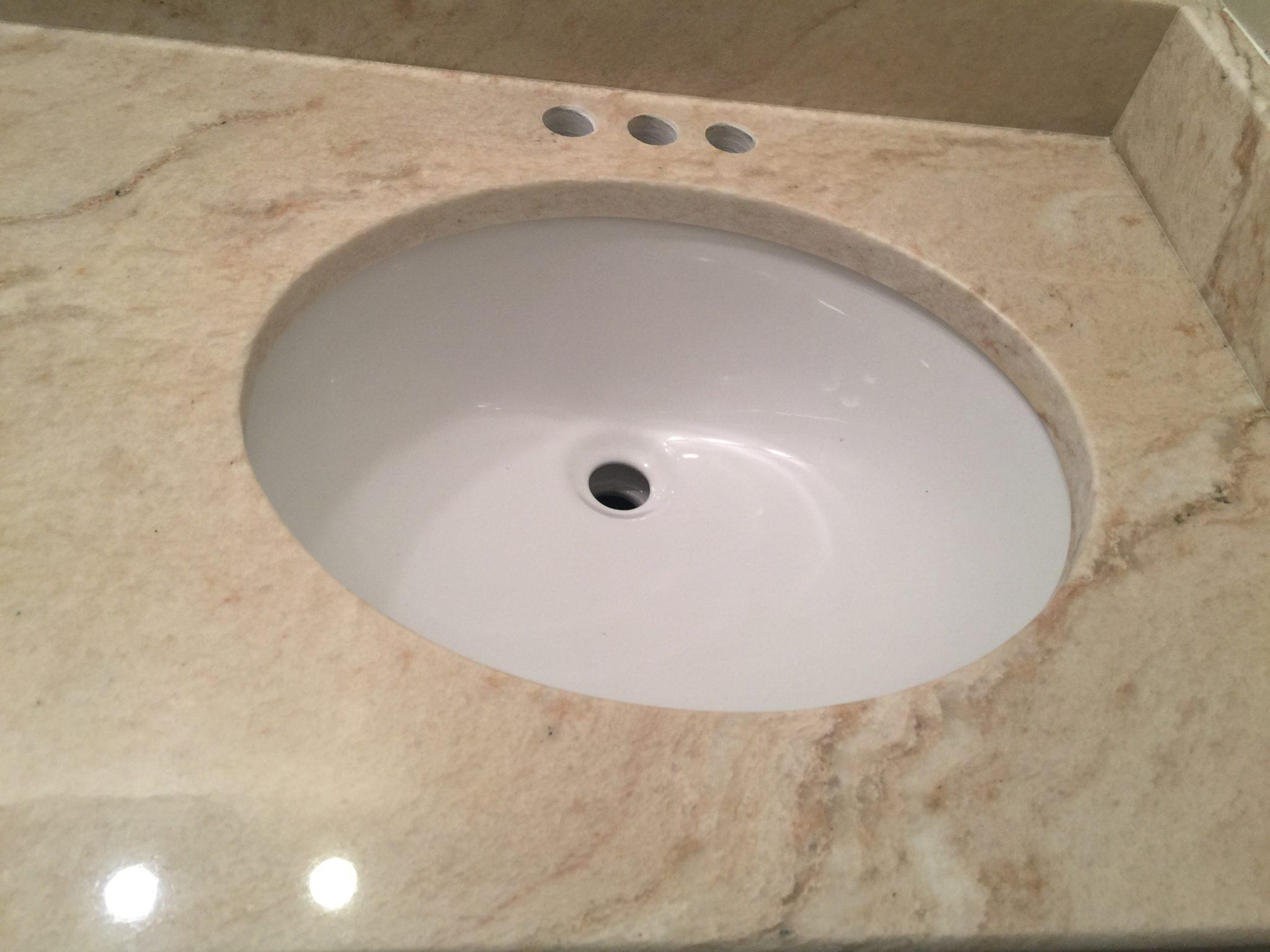 Artic White Quartzite vanity top