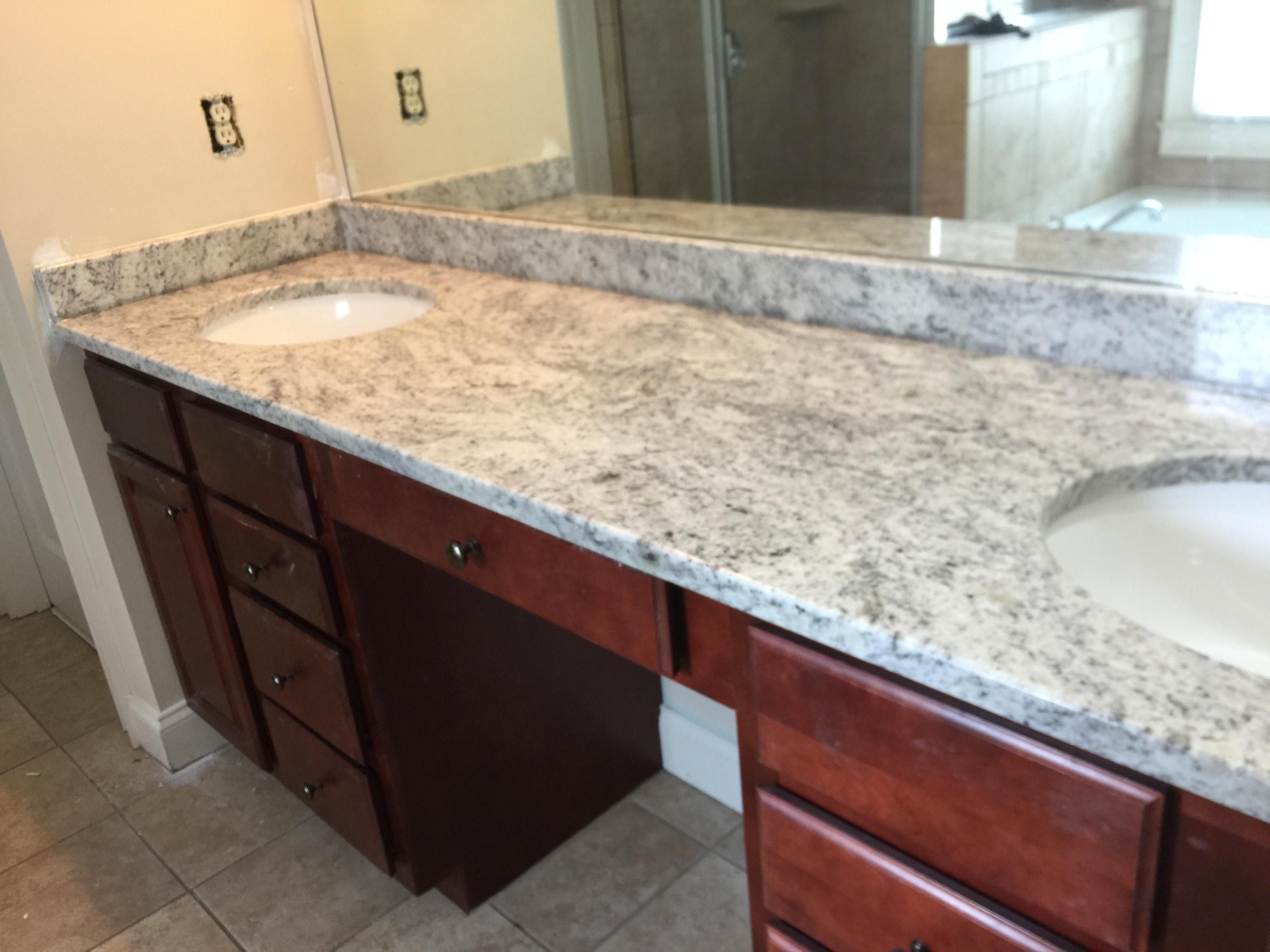 Project Spotlight Bahama White Granite Vanity Top In Smyrna Ga 30082