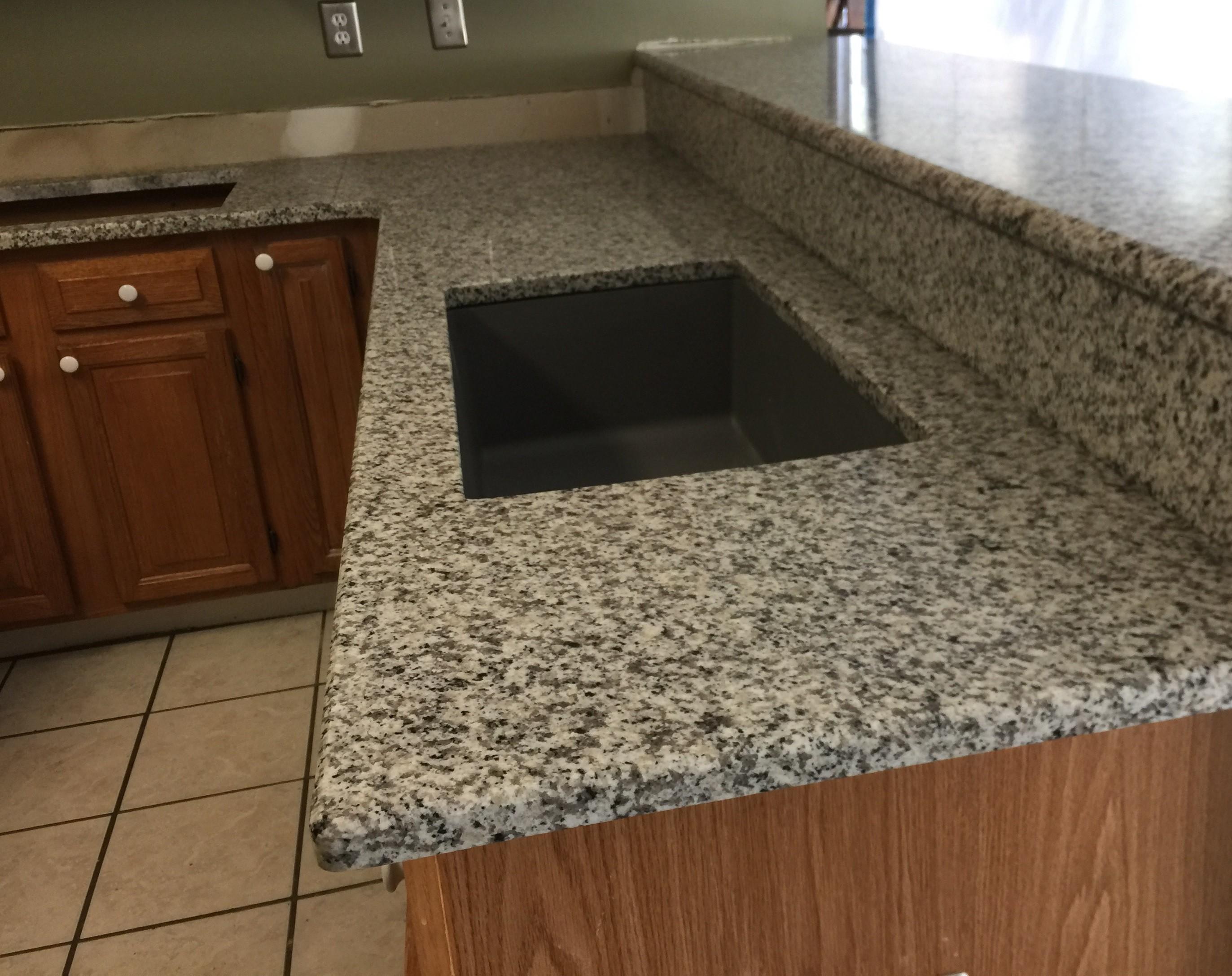 Bella White kitchen countertop