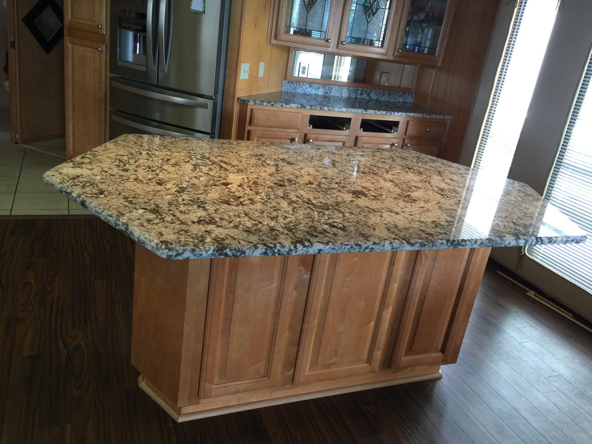 Project Spotlight Bianco Antico Granite Kitchen Island In