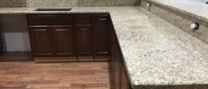 Project Profile: New Venetian Gold Granite Kitchen Countertop In Kennesaw,  GA