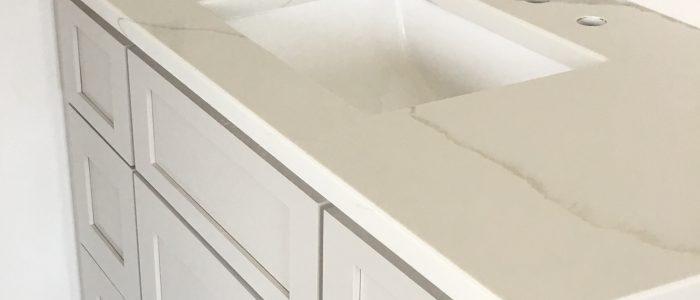 Calacatta Gold Quartz vanity