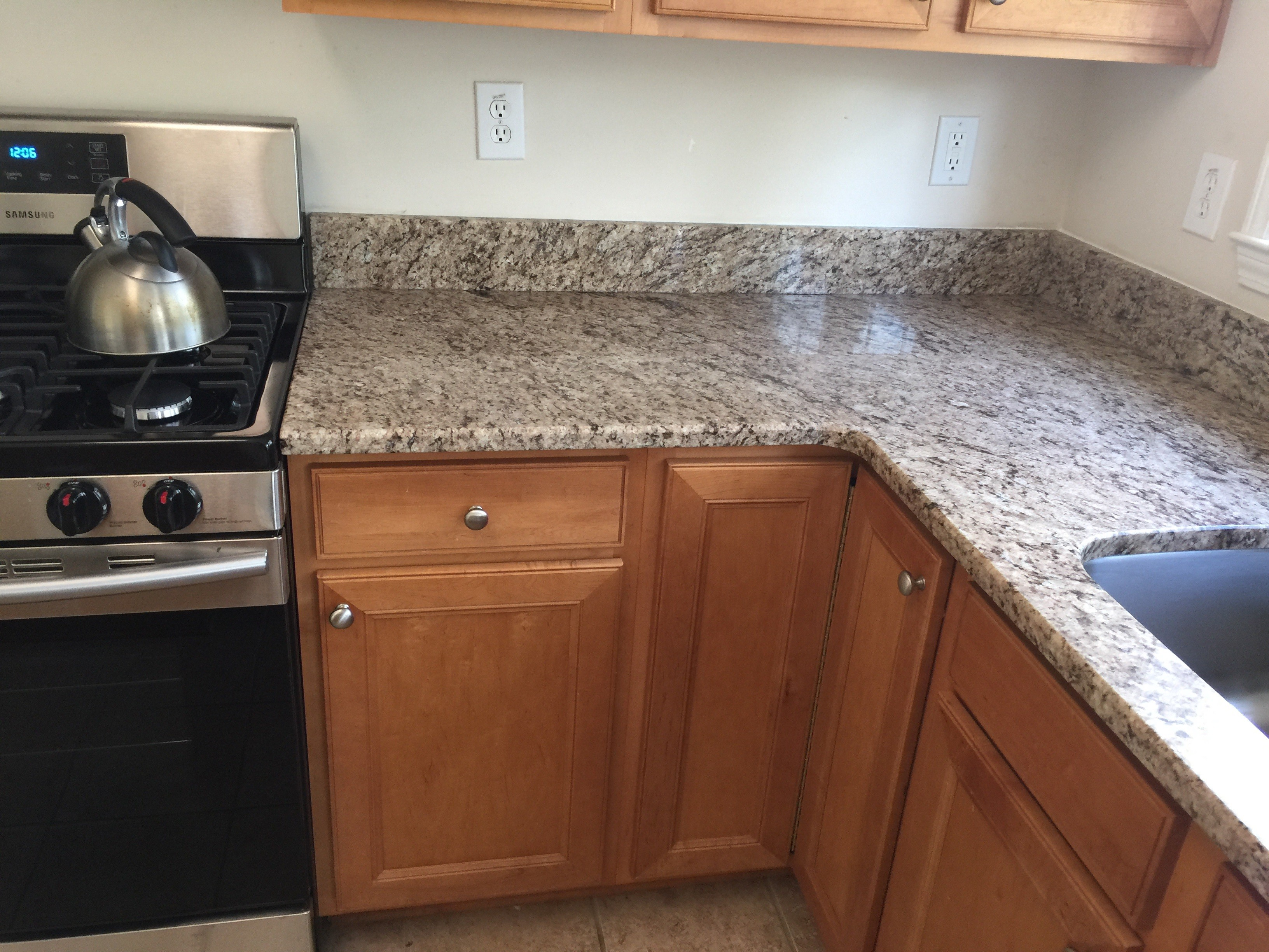 Project Profile Giallo Ornamental Granite Countertops In Ming Ga 30040