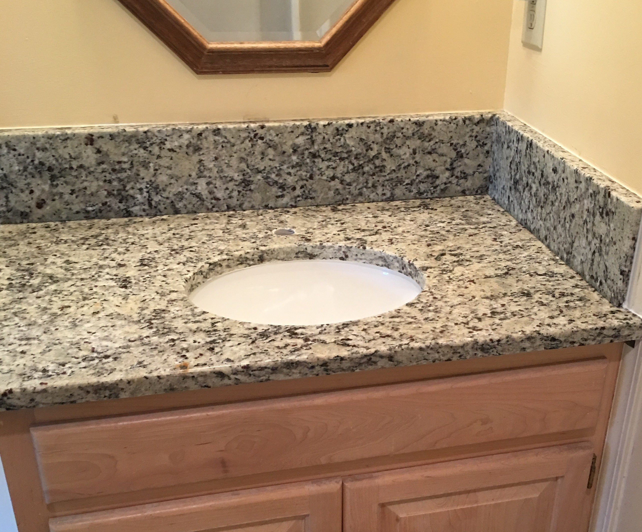 Project Profile Santa Cecilia Light Granite Vanity Top In Canoe Ga 30143