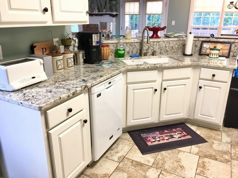 Kitchen Project Inspiration featuring white galaxy granite countertops