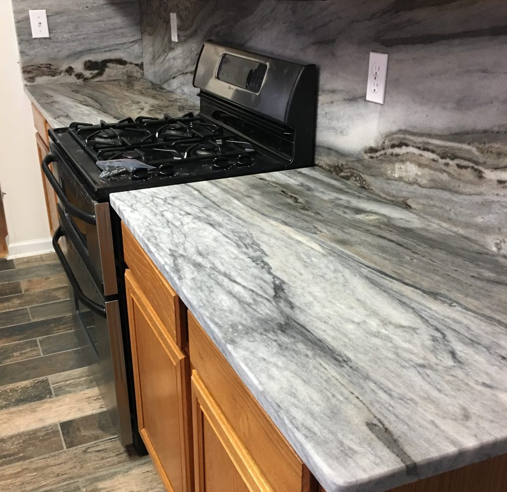 Project Profile: Thunder Cloud Marble Counterop in Atlanta, GA 30331