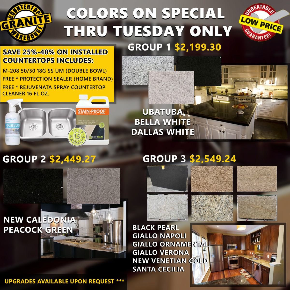 Granite And Stone Countertop Closeouts At Heavily Discounted Prices
