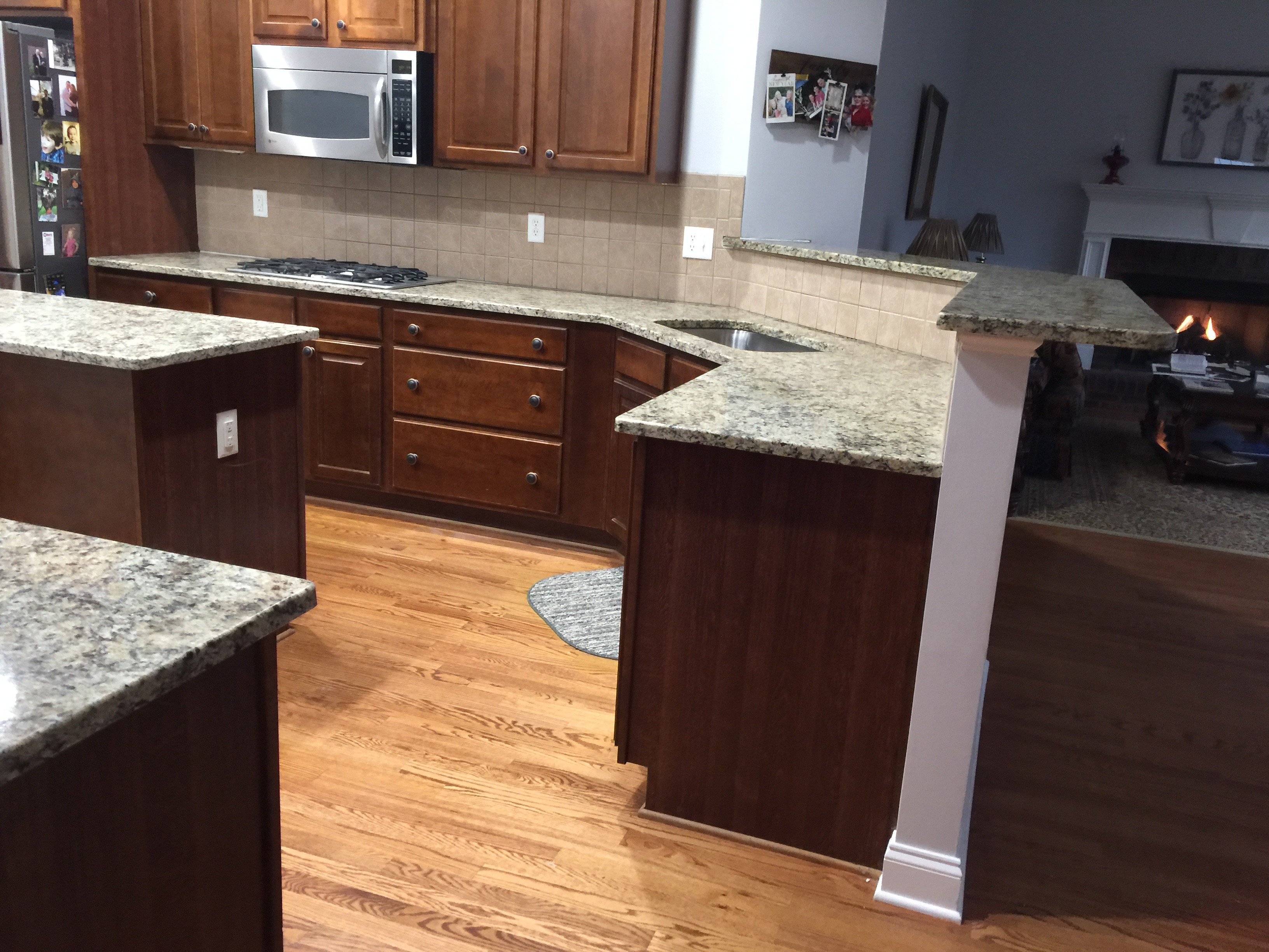 Project Profile Giallo Napoli Granite Countertops In Dallas Ga Granite Countertop Warehouse