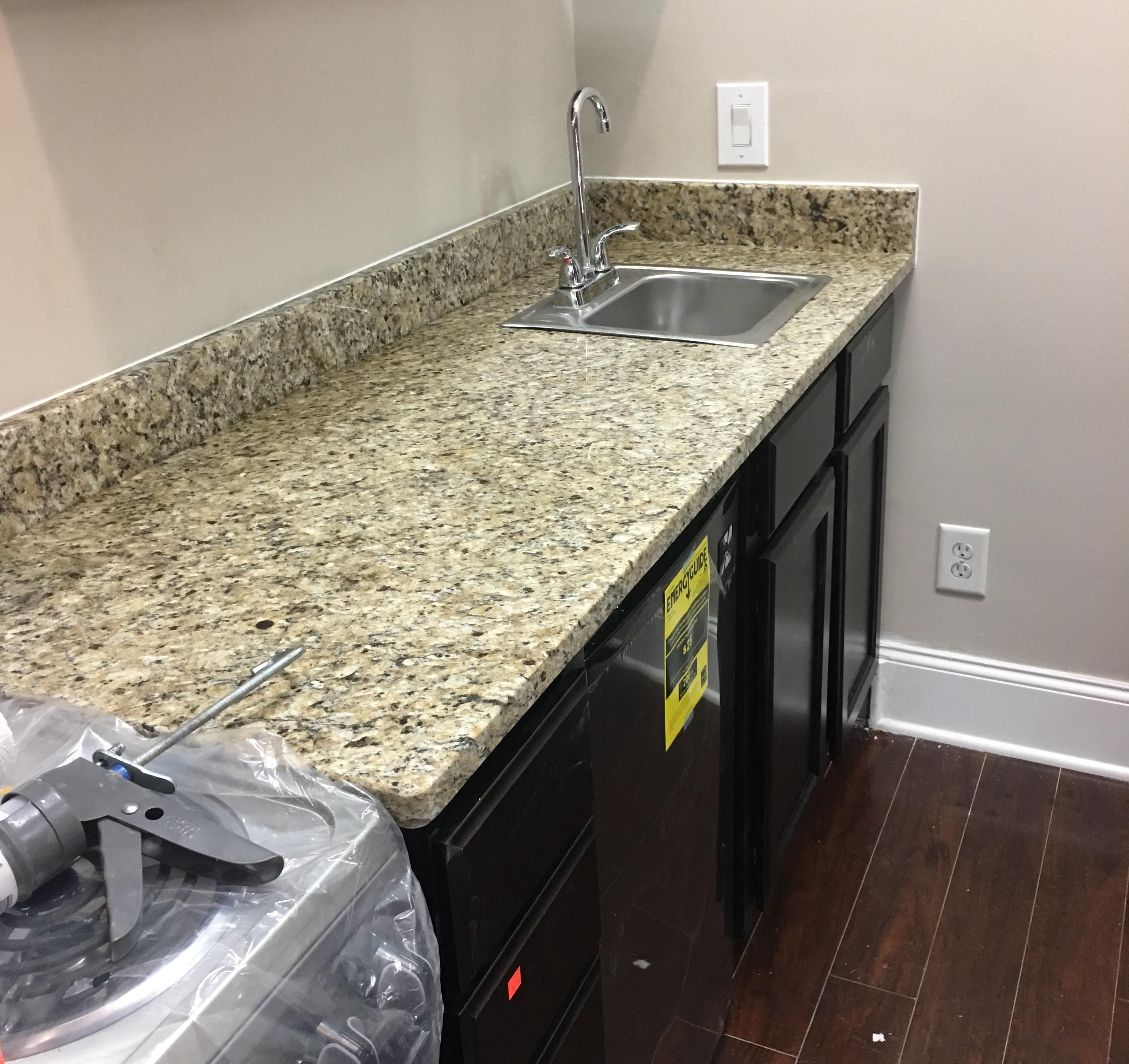 Project Profile New Venetian Gold Granite Kitchen Countertops In Atlanta Ga