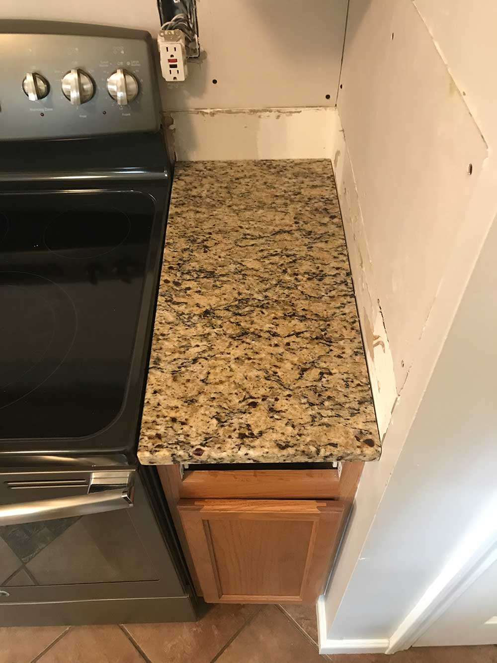 Santa Cecilia classic granite countertops in Gay, GA - After photos