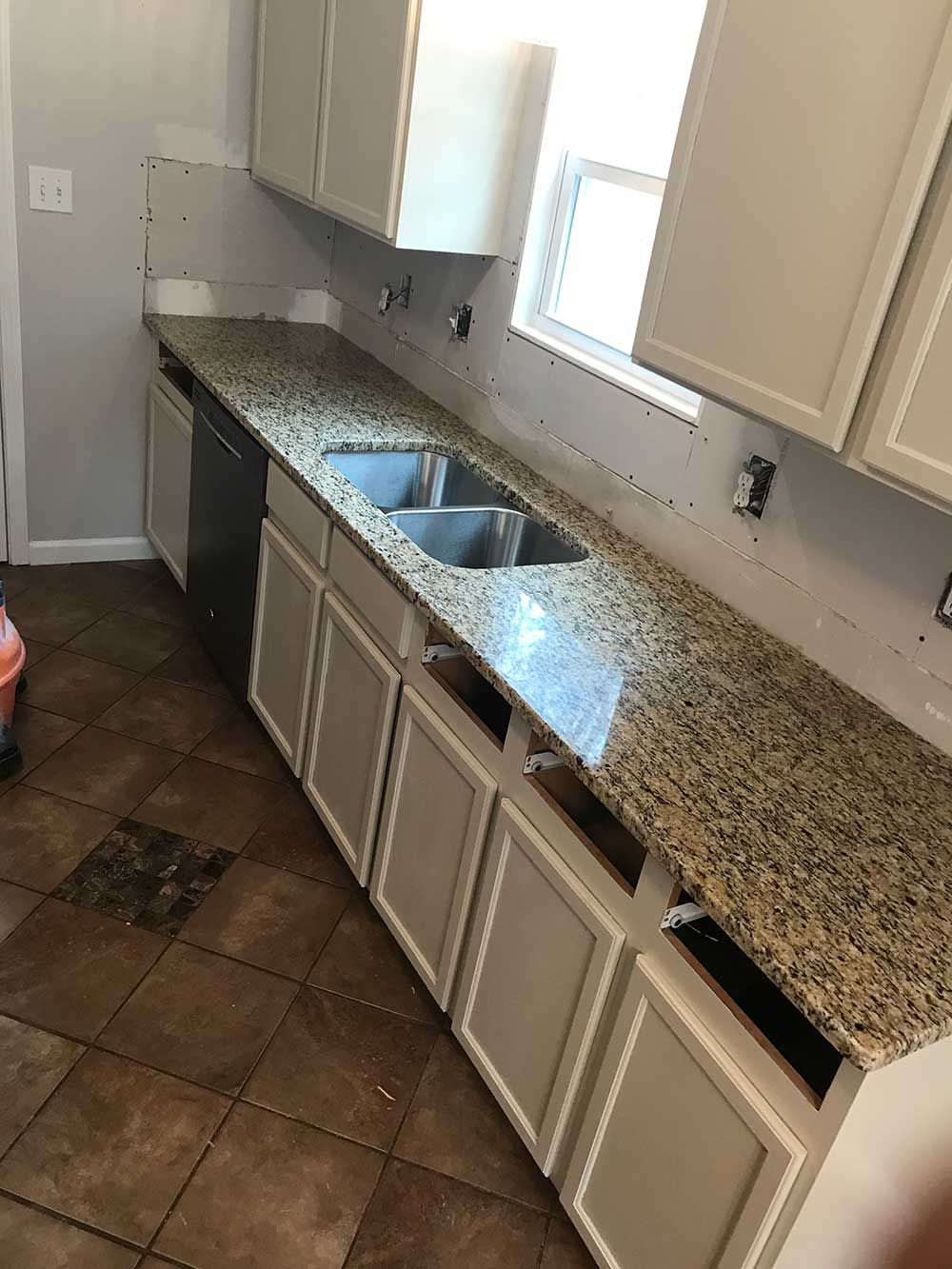 Santa Cecilia classic granite countertops in Gay, GA - After photos