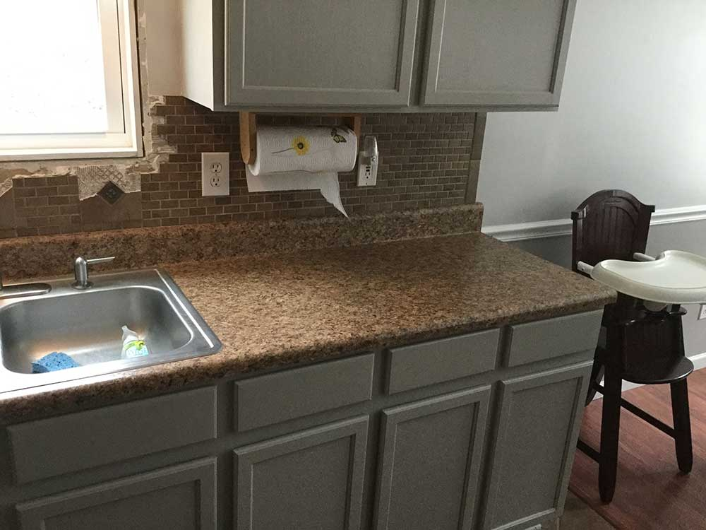 Santa Cecilia classic granite countertops in Gay, GA - Before photos