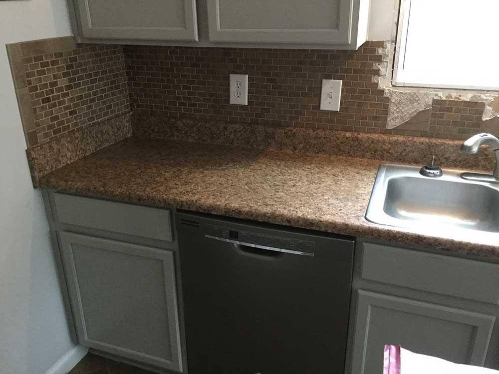 Santa Cecilia classic granite countertops in Gay, GA - Before photos
