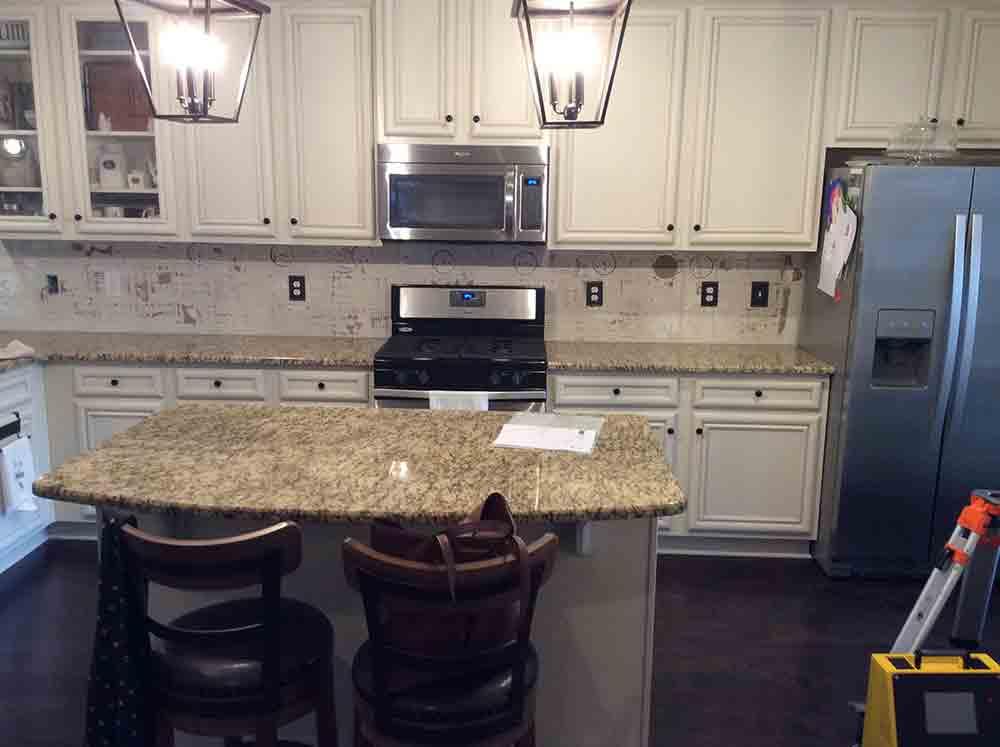 Santa Cecilia Classic granite countertops in Acworth, GA.