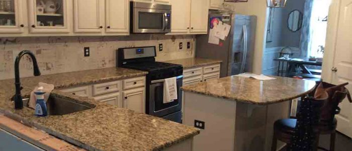 Santa Cecilia Classic granite countertops in Acworth, GA.