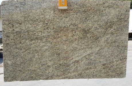 Photo of a slab of Santa Cecilia Classic installed for a customer in Roswell, GA.