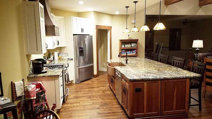 Photo from a Project Profile: Stormy Night Granite Countertop in Powder Springs, GA